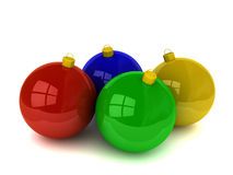 Christmas balls and ornaments stock images