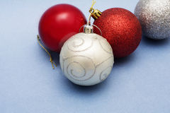 Christmas balls ornaments for decoration Royalty Free Stock Photos