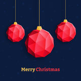 Christmas balls ornaments triangle red Stock Photos
