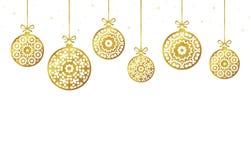 Christmas balls ornaments, xmas decoration, illustration. Christmas balls ornaments, xmas decoration, vector illustration Stock Images