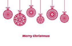 Christmas balls ornaments, xmas decoration, illustration. Christmas balls ornaments, xmas decoration, vector illustration Royalty Free Stock Photos