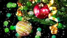 Christmas balls stock video footage