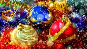 Christmas balls stock footage