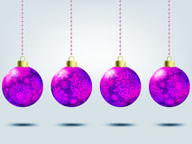 Christmas balls over elegant background. EPS 8 Royalty Free Stock Photos