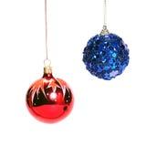 Christmas Balls Over White Royalty Free Stock Image