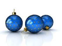 Christmas balls over white Stock Image
