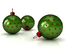 Christmas balls over white Royalty Free Stock Images