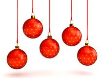 Christmas balls over white. 3d rendered image Stock Photography