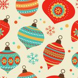 Christmas balls pattern Stock Photos