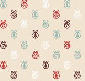 Christmas balls pattern. Vector illustration. Vintage textured background. Invitation background design. Can be used for prints, wrapping paper, web backgrounds Stock Images