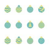 Christmas balls pattern 2 Stock Photos