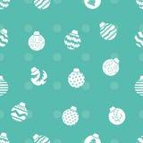 Christmas balls pattern Stock Image
