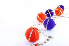 Christmas balls. Photo of Christmas balls on white background royalty free stock photography