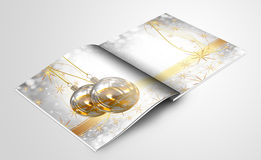 Christmas balls picture book Stock Images