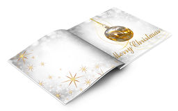 Christmas balls picture book Royalty Free Stock Images
