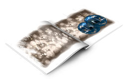 Christmas balls picture book Royalty Free Stock Photos