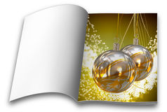 Christmas balls picture books Royalty Free Stock Photography
