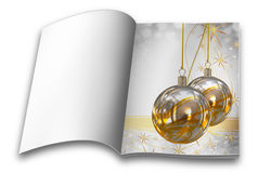 Christmas balls picture books Royalty Free Stock Image
