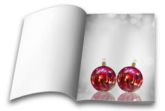 Christmas balls picture books Stock Image