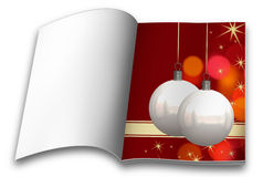 Christmas balls picture books Royalty Free Stock Photos