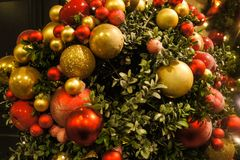 Christmas balls. A picture of christmas balls decoration, in the christmas season Stock Photography