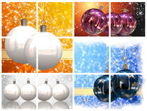 Christmas balls pictures Stock Image