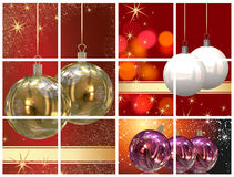 Christmas balls pictures Royalty Free Stock Images