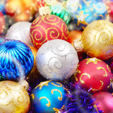 Christmas balls pile Stock Photo