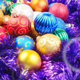 Christmas balls pile Royalty Free Stock Photos