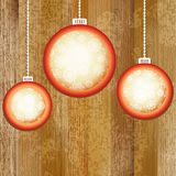 Christmas balls with place for copyspace.  + EPS8. Vector file Royalty Free Illustration