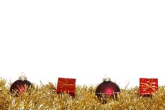 Christmas Balls And Presents Royalty Free Stock Photos