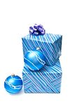 Christmas balls and presents Royalty Free Stock Images