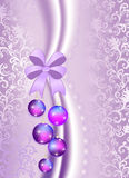 Christmas balls on the purple vintage background Royalty Free Stock Photography