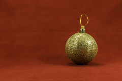 Christmas balls on a red background Royalty Free Stock Photography
