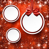 Christmas balls on red background. Royalty Free Stock Images