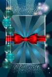 Christmas balls and red tape royalty free stock photo