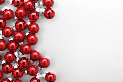 Christmas balls. Red Christmas balls on white background Stock Photography