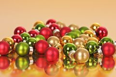 Christmas balls reflecting Stock Images