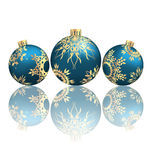 Christmas balls with  reflection on grayscale Stock Images