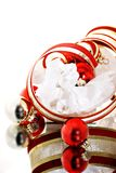 Christmas Balls and Ribbon Royalty Free Stock Photo