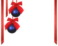 Christmas balls with ribbons Royalty Free Stock Images
