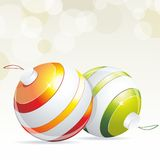 Christmas balls with ribbons Stock Image