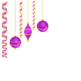 Christmas balls and ribbons with space for your text. EPS10 vector format Royalty Free Stock Photography