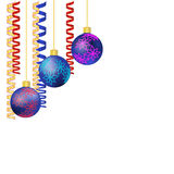 Christmas balls and ribbons with space for your text. EPS10 vector format Royalty Free Stock Photos