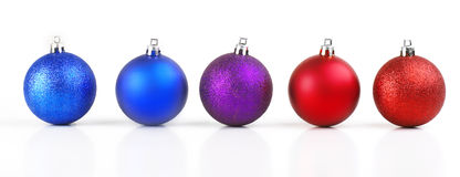 Christmas balls row Stock Photo