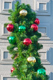 Christmas balls in row Royalty Free Stock Photos