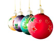Christmas balls in a row Stock Image
