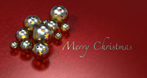 Christmas balls with ruby background Stock Photography