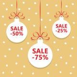 Christmas balls sale Stock Images
