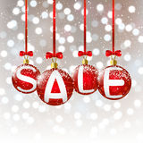 Christmas balls with sale message Stock Images